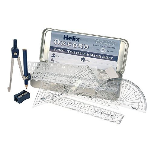 9 Piece Maths Set Helix Oxford