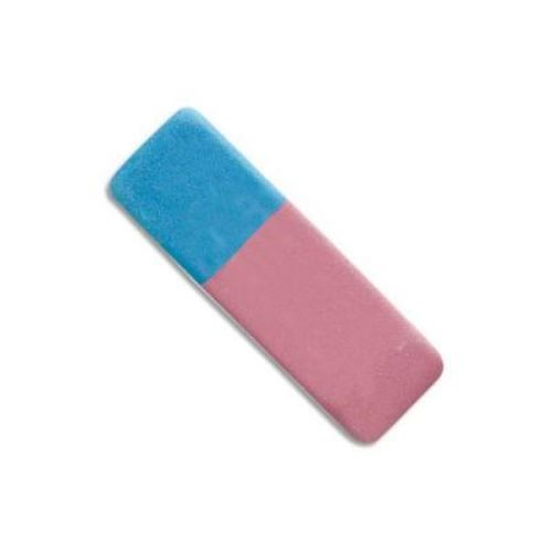 Gomme double rose/bleue
