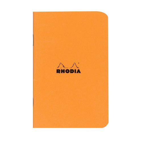 Carnet Rhodia 'Classic' 7,5x12cm petit carreaux 5x5 - 48p (orange)