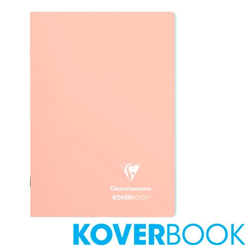 Koverbook 'Blush' by Clairefontaine ; A5 (14,8x21cm) Polypro Notebook, with page markers, lined - 96p (Coral Pink / Frost Blue)
