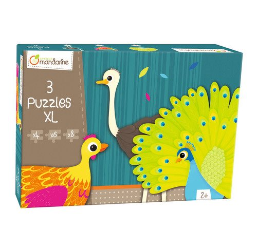 3 puzzles XL, feathered creatures