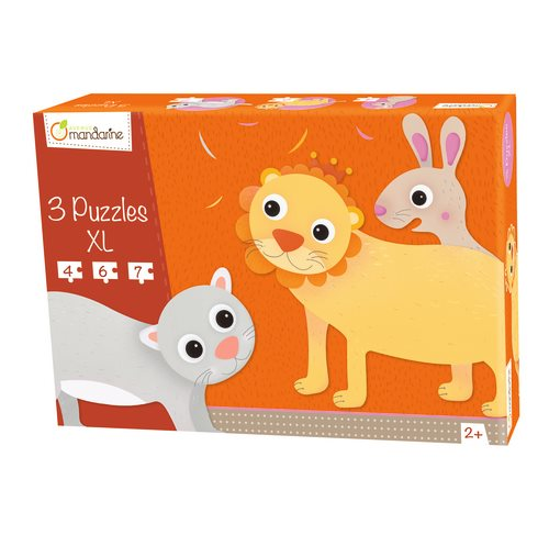 3 puzzles XL, hairy animals