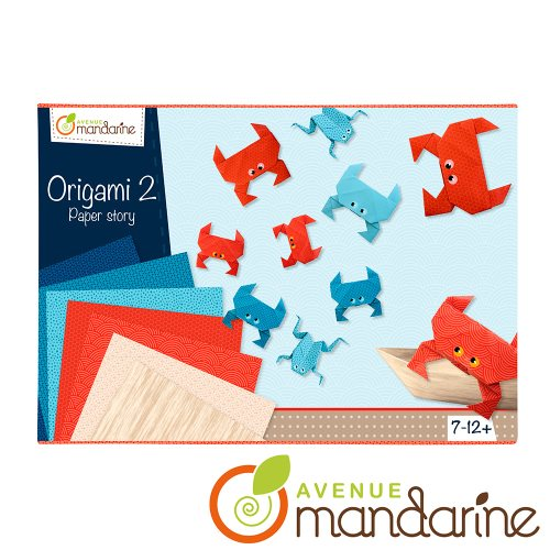 Boite créative Origami Crabes et grenouilles / Creative box - ORIGAMI - CRABS AND FROGS
