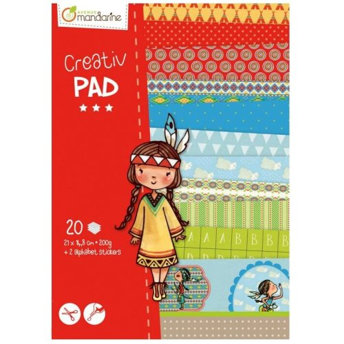 Creativ' pad a5, indiennes