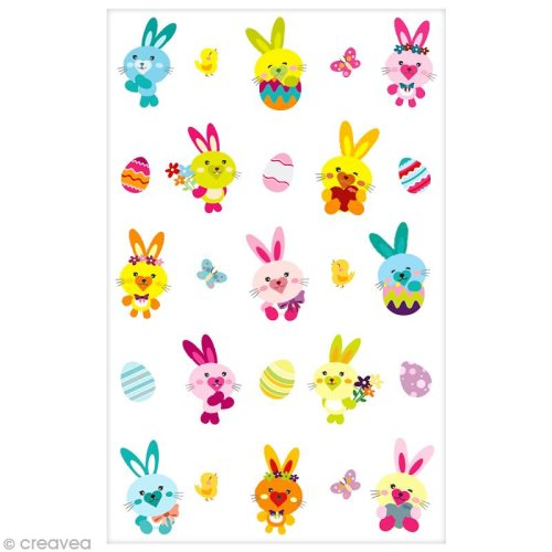 Sticker Fantaisie Cooky - Lapins - 25 pcs