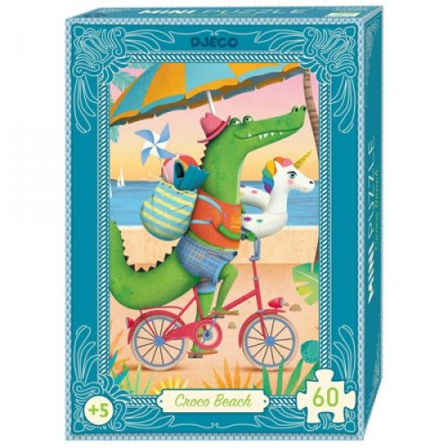 Mini puzzle - Croco Beach - 60 pcs