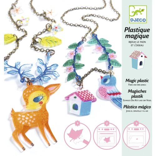 Plastique magique The fawn and the bird