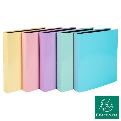 Classeur / Ringbinder - Exacompta Aquarel (Pastel), 4-rings (Ø25mm), Glossy Card -  col ass'