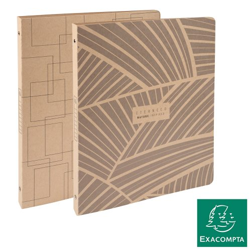 Classeur / Ringbinder - Exacompta Eterneco (Natural), 4-rings (Ø15mm), Sustainable Light Card - kraft (designs assorted)