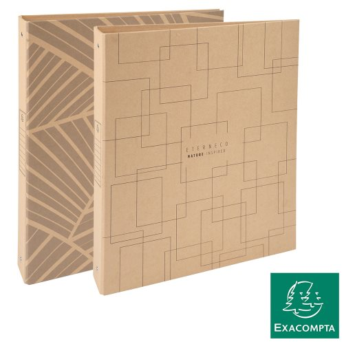 Classeur / Ringbinder - Exacompta Eterneco (Natural), 4-rings (Ø30mm), Sustainable Rigid Card - kraft (designs assorted)