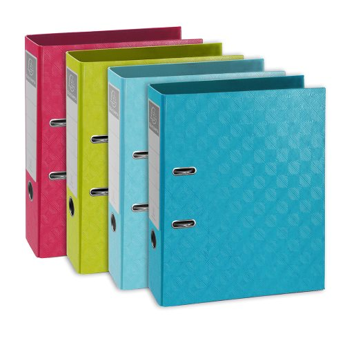 Polypro covered Lever Arch File; Exacompta '1928', A4 Standard with 70mm spine - (varying colours)