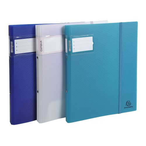 Semi-rigid polypro A4 ringbinder Campus 'Light' ; 2 rings (Ø15mm), 20mm spine - (varying colours)