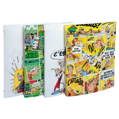 Asterix Polypro Softsided Ringbinder - with 2-Rings at Ø15mm, 20mm spine - (varying graphic designs)