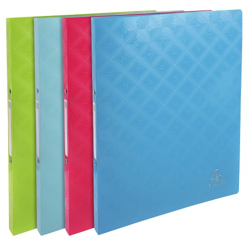 Flexible polypro A4 ringbinder ; Exacompta '1928' ; 2 rings (Ø15mm), 20mm spine - (varying colours)