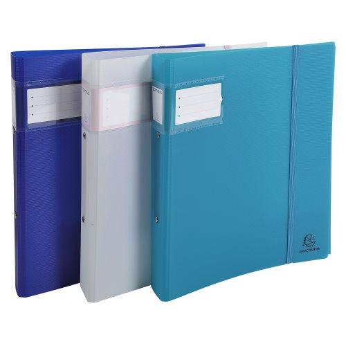 Semi-rigid polypro A4 Maxi ringbinder Campus 'Light' ; 2 rings (Ø30mm), 45mm spine - (varying colours)