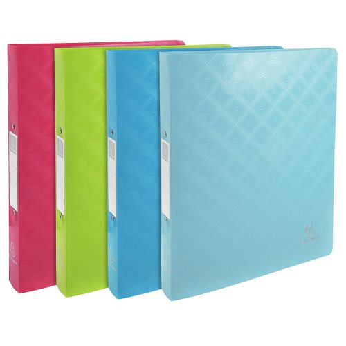 Flexible polypro A4 ringbinder ; Exacompta '1928' ; 2 rings (Ø30mm), 40mm spine - (varying colours)