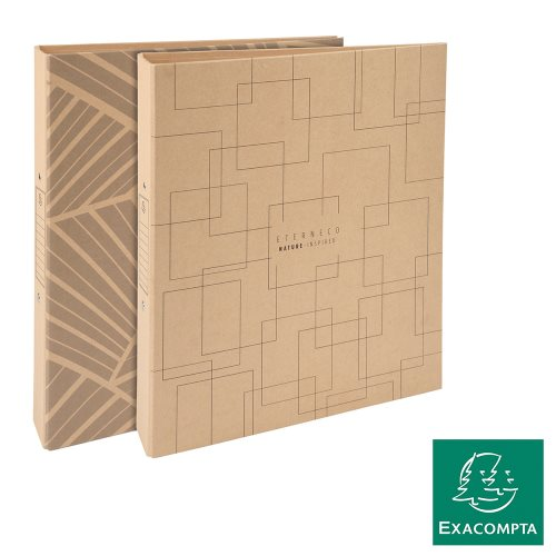 Classeur / Ringbinder - Exacompta Eterneco (Natural), 2-rings (Ø30mm), Sustainable Rigid Card - kraft (designs assorted)