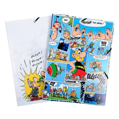 Asterix Polypro 3-Flap Elasticateed Folder - 24x32cm - (varying graphic designs)