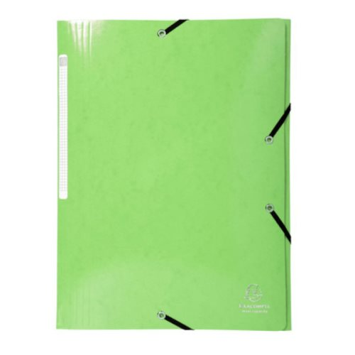 Iderama 3-Flap Elasticated Folder in 425gsm Card; Glossy - Lime Green
