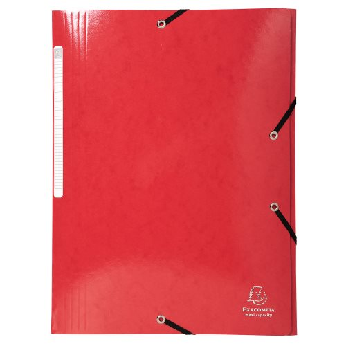 Iderama 3-Flap Elasticated Folder in 425gsm Card; Glossy - Red