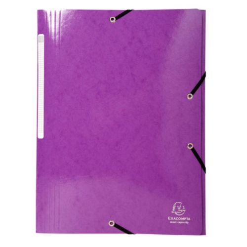 Iderama 3-Flap Elasticated Folder in 425gsm Card; Glossy - Violet / Purple