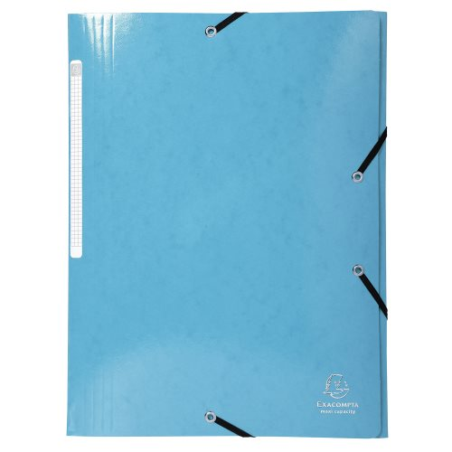 Iderama 3-Flap Elasticated Folder in 425gsm Card; Glossy - Turquoise