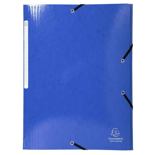 Iderama 3-Flap Elasticated Folder in 425gsm Card; Glossy - Blue