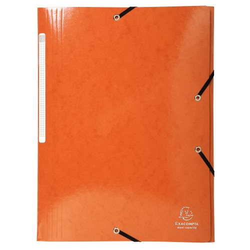 Iderama 3-Flap Elasticated Folder in 425gsm Card; Glossy - Orange