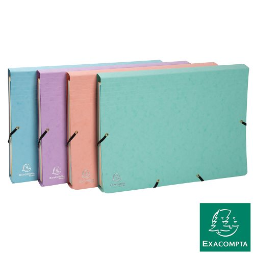 Trieur / 12 Part Multipart Accordion File ; Exacompta 'Aquarel' (Pastel), 600gsm card stock - (Col' Ass.)