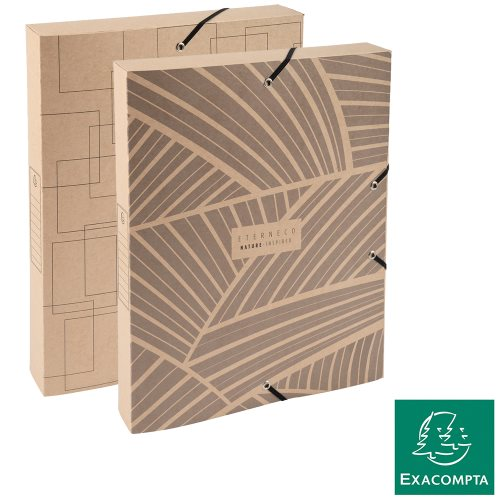 Boîte de Classement / Filing Box 40mm ; Exacompta Eterneco (Natural), 600gsm Card - kraft (assorted designs)