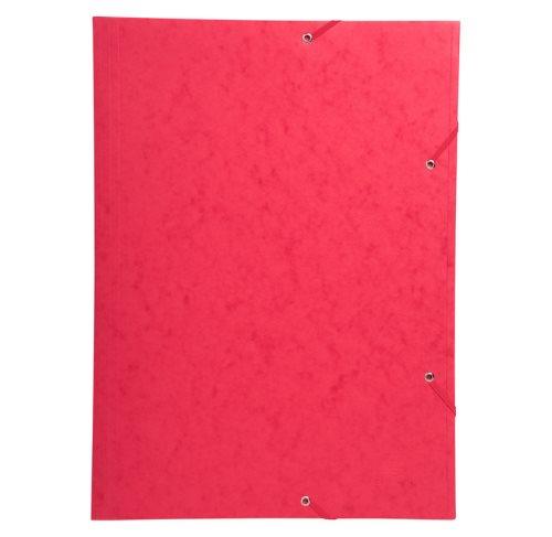 grand chemise cartonn e avec lastique pour a3 42x29 7cm 3 rabats rouge librairie la page. Black Bedroom Furniture Sets. Home Design Ideas