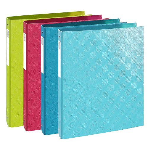 Rigid Card A4 ringbinder ; Exacompta '1928' ; 2 rings (Ø30mm), 40mm spine - (varying colours)