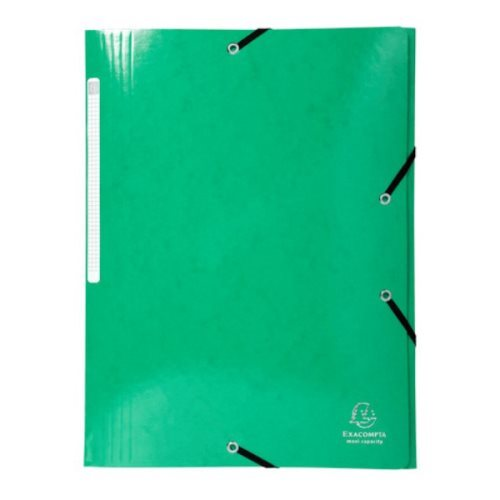 Iderama 3-Flap Elasticated Folder in 425gsm Card; Glossy - Green