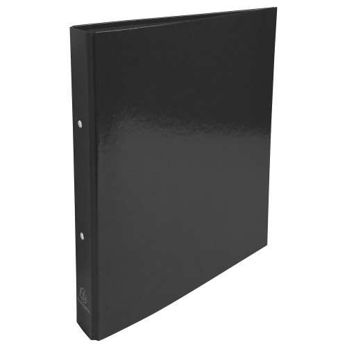 Rigid card A4 Maxi ringbinder 'Idearama' by Exacompta; 2 rings (Ø30mm), 40mm spine - (black)