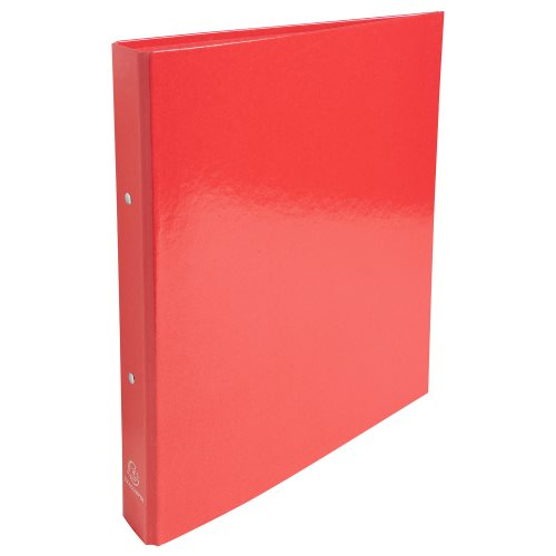 Rigid card A4 Maxi ringbinder 'Idearama' by Exacompta; 2 rings (Ø30mm), 40mm spine - (red)