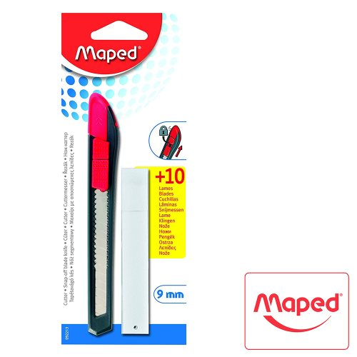 Maped 9mm Extendable Craft Cutter - with spare blades