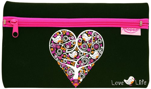 Trousse Neoprene Soft Helix 'Love Life' (22x13cm)