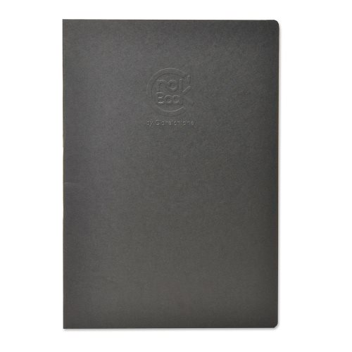 Crok'Book 160g ; Card and Staple Bound 160g/m² Sketch Book, A4, 20 sheets/ 40 pages ; fine grained - (black cover)