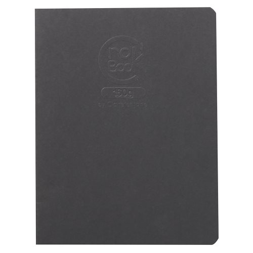 Crok'Book 160g ; Card and Staple Bound 160g/m² Sketch Book, 17x22cm, 20 sheets/ 40 pages ; fine grained - (black cover)