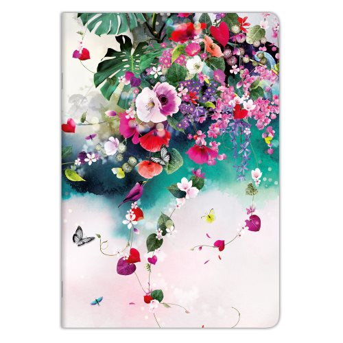 Cahier Collection Clairefontaine 'Tropical Dream' A4 (21x29,7cm), ligné & marge - 96p (design aléatoire)