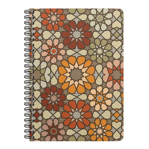 Cahier Collection Clairefontaine 'Zellige' A5 (14,8x21cm), ligné - spirales - 148p
