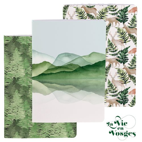 La Vie en Vosges by Clairefontaine ; A5 (14,8x21cm) notebook, with exposed sewn binding - 64p (assorted designs)