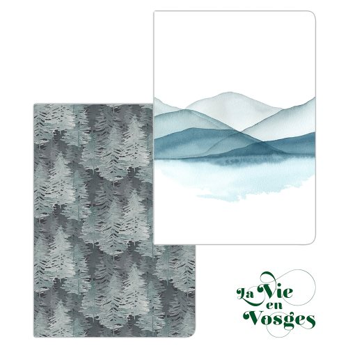La Vie en Vosges by Clairefontaine ; A4 (21x29,7cm) notebook, lined and margined - 148p (assorted designs)