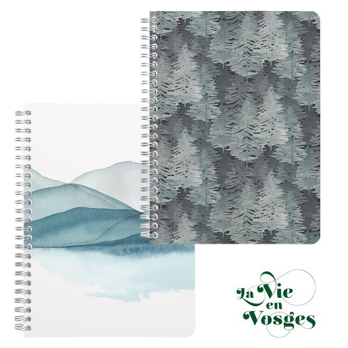 La Vie en Vosges by Clairefontaine ; A5 (14,8x21cm) sprial-bound notebook, with 6 dividing pockets - 120p (assorted designs)