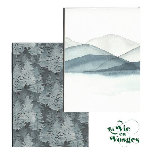 La Vie en Vosges by Clairefontaine ; A5 (14,8x21cm) hard-covered and cloth-bound notebook, with expanding rear pocket - 160p (assorted designs)