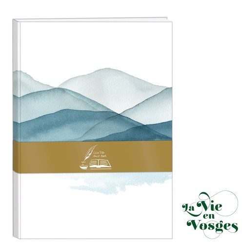 La Vie en Vosges by Clairefontaine ; A5 (14,8x21cm) hound-covered Guest Book, with blank pages - 160p
