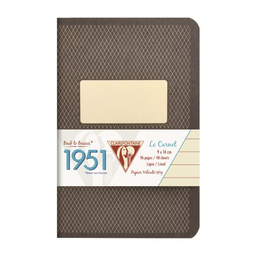 Back to Basics '1951' Carnet by Clairefontaine ; 9x14cm, lined, staple bound - 96 pages (black)