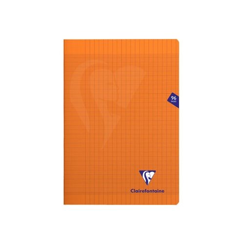 Cahier piqué 'Mimesys' A4 (21x29.7cm) - grands carreaux (séyès) - 96p (orange)