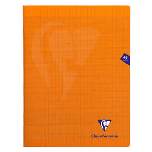 Cahier 'mimesys' polypro A4+ (24x32cm) grand carreaux (séyès) - 48p (orange)