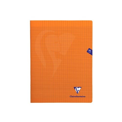 Cahier piqué 'Mimesys' A4+ (24x32cm) - grands carreaux (séyès) - 96p (orange)